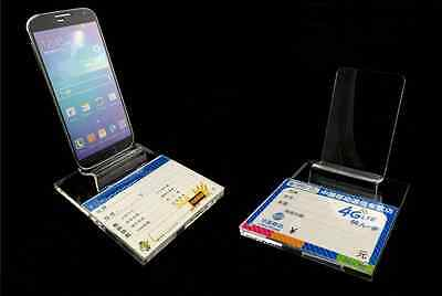 50pcs Clear Acrylic Mobile cell phone display stand holder universal General S45