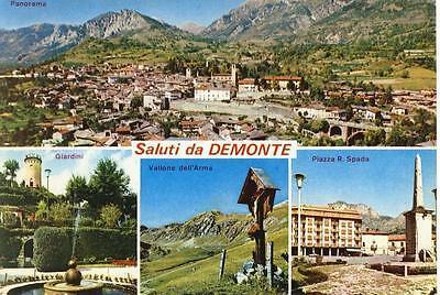 CUNEO DEMONTE SALUTI DA... VEDUTINE VIAGGIATA 1975