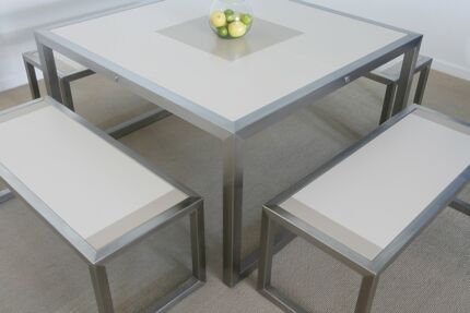 Exceptional Stainless Steel / Corian Outdoor Setting Abbotsford Canada Bay Area Preview