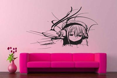 Wall Vinyl Sticker Decals Kids Room Decor Mural Anime DJ Girl Cheap #145](Cheap Wall Decals)