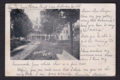 USA NY Sullivan HIGH VIEW Bonnie View House used 1904 u/b PPC