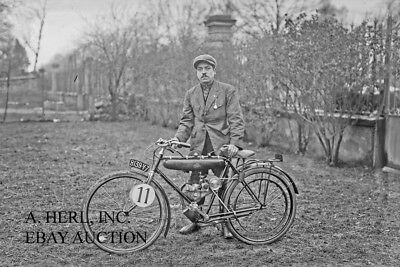 La Cyclette factory racer 1922 endurance racing at Marly photo motorcycle racing
