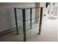 Small Glass Table/Shelf Unit