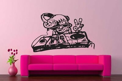 Wall Vinyl Sticker Decals Art Decor Cool DJ Boy Music Funny Cheap  #164](Cheap Wall Decals)