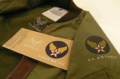U. S. AIR FORCE /USAF IRON ON DECAL for B-15D L-2B MA-1 N-2B N-3B flight jacket.