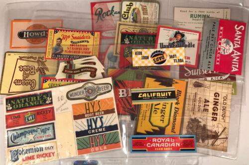 Pop Soda Bottle Labels. Vintage NOS