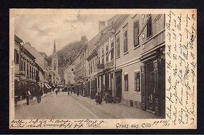 102952 AK Cilli 1899 Grazergasse Celje Slowenien