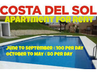 3 Bed apartment for rent Costa Del Sol 80Euros PD