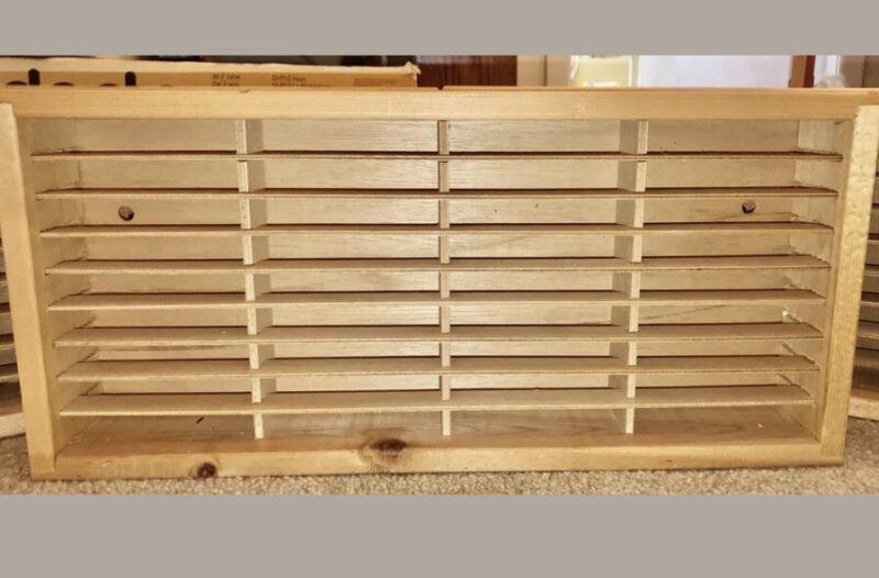 NAPA Box Company Wood 36 Slot Cassette Tape Storage Rack Case Holder