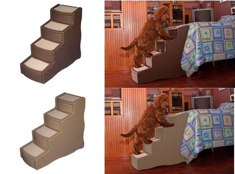 30-5-H-Easy-Step-IV-Four-Steps-Pet-Dog-Cat-Bed-Stairs-Chocolate-or-Tan ...