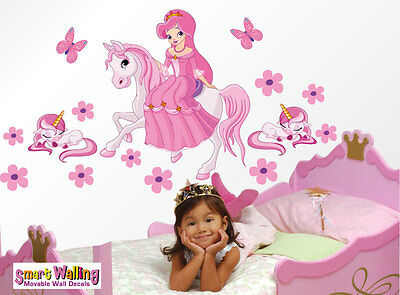 Princess and unicorn wall stickers