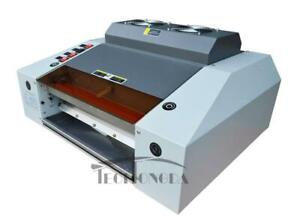 220V 340mm Wide UV Laminating Picture Protect Coating Laminator 122031
