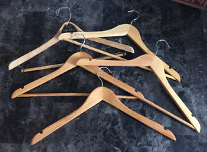 5 High Quality Real Wooden / Wood Clothing Hangers