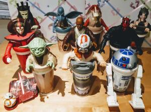 Star Wars Anakin, Darth Maul, Yoda, R2D2, Mace Windu, Queen Jedi