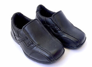 George Toddler Baby Black Dress Shoes - Size 7