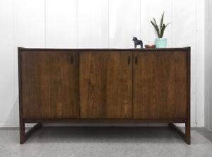Vintage Walnut Dresser (Teak Style)
