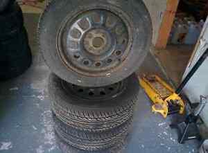 Set of 4 tires on steel rims London Ontario image 4