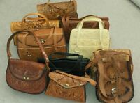 10 vintage tooled leather purses!! In excellent condition!