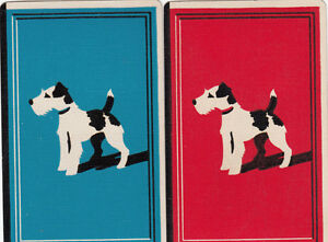 Vintage Swap / Playing Cards -2 SINGLE- AIREDALE TERRIER DOGS