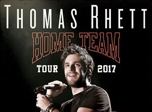 4 Thomas Rhett Tickets - Regina, May 8