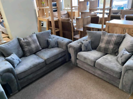 NEW: 3+2 Seater Verona Sofas With Scatter Back Cushions