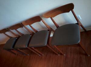 Set of 4 Mid- Century Modern teak dining chairs