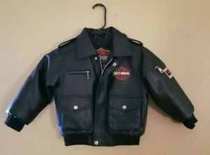 Classic HARLEY DAVIDSON Biker Jacket Youth Sz 5 Fully Lined MINT