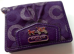 Guaranteed Authentic COACH 'Madison' Op Art Signature Plum Mini