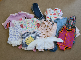 HUGE 41 items, 6-9 month baby girls clothes bundle.
