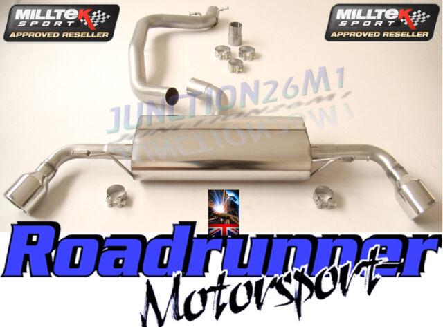AUDI TT MK2 MILLTEK EXHAUST 2.0 TFSI 2WD CAT BACK DUAL 2 X JET SSXAU143 & EC
