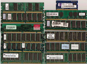 2 pcs of 168-Pin PC100 100MHz SDRAM DIMM Memory - 64 and 256 MB