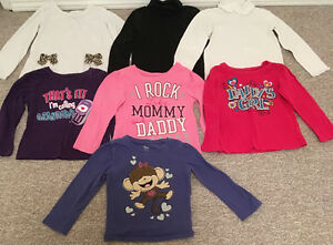 CHILDRENS PLACE (7) LONG SLEEVE SHIRTS TODDLER SZ 4