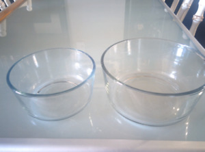 Archor Hocking glass dishes, 4 cup, 7 cup, microwavable