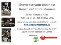 South Huron Home and Lifestyle Show - Recruiting Vendors