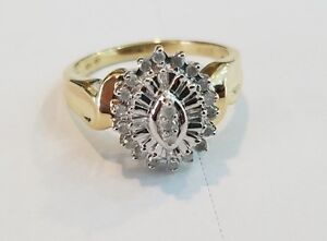 Gorgeous Diamond Cluster  for sale
