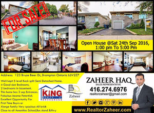 Spacious Semi-Detached Home For Sale In Brampton