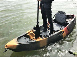 Wow! new model fishing kayak has it all!  free paddle/delivery