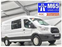 2015 FORD TRANSIT CREW VAN 2.2TDCi 125PS RWD 350 L3H2 9 OR 6 SEATER COMBI