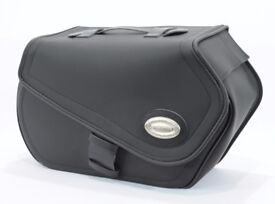 Lockable 53l synthetic leather quick-release saddlebags