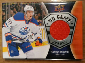 Connor Mcdavid Game Used Jersey Card !