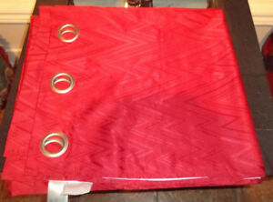 Beautiful Red Color, Curtains  two Panels.  never used - $15