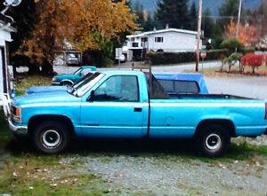 1993 Chevrolet Cheyenne Pick Up Truck Propane 305 Engine Blue