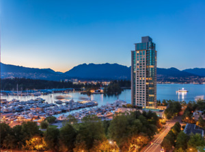 Amazing View of Water and Mountain in Coal Harbour