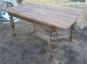 Beautiful Rustic Antique Dining Table W Barn Board Top 3ft x 5ft