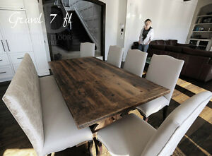 Gray Reclaimed Wood Tables with Smooth, Durable Finishing