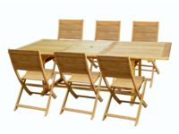 ROSCANA WOODEN 6/8 SEATER DINING TABLE. RRP £269