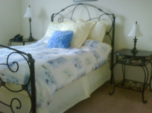 Bombay Co Beautiful Wrought-Iron Bed and bedside table