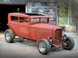 REDUCED 1931 FORD MODEL A TUDOR STREETROD PROJECT