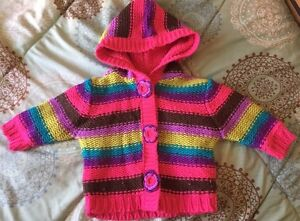George 0-6 month knitted and fleece jacket Kitchener / Waterloo Kitchener Area image 1