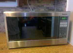 Like new Panasonic Stainless Steel Microwave
